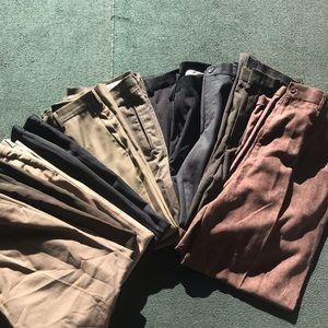 Men's Dress Pants Bundle 11 Pairs
